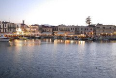 The Venetian harbour in Rethymnon