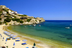 Agia Pelagia, one of the beaches within easy reach by car